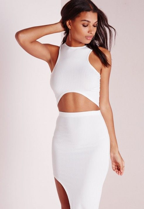 Round Neck Crop Top White - Tops - Missguided