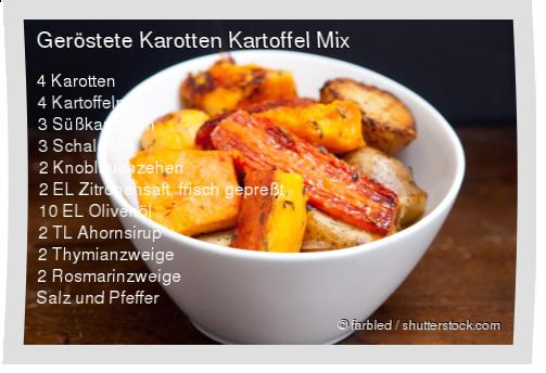 Leckeres Geröstete Karotten Kartoffel Mix Rezept mit einfacher Schritt-für-Schritt-Anleitung: Ofen auf 180 Grad vorheizen , Karotten, Kartoffeln und Sü... #kartoffelnofen
