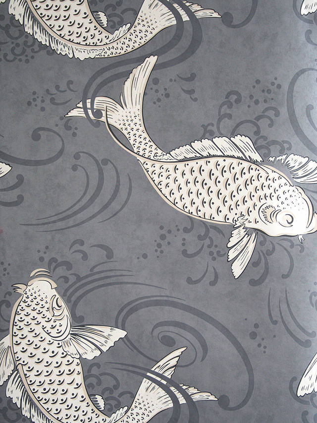 Osborne & Little Derwent Wallpaper, Graphite, W579604