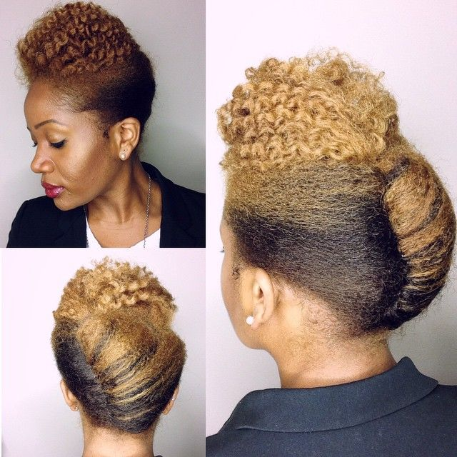 A O West On Instagram Wednesday Flat Twist Out X French Roll This Is A Great Style For Wo Natural Hair Updo Professional Natural Hairstyles Hair Styles