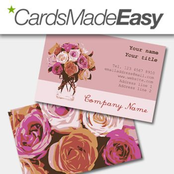 This Lovely Floral Business Card Is Apt For Flower Business Get It Today Email D Florist Business Card Business Cards Creative Business Card Design Creative