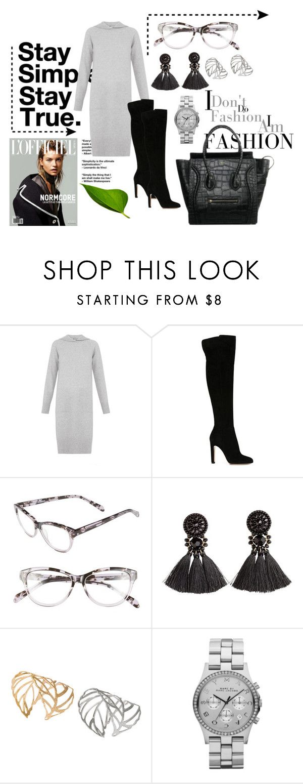 """#894"" by mar-aloi ❤ liked on Polyvore featuring moda, Whistles, Gianvito Rossi, Corinne McCormack, H&M, Marc by Marc Jacobs y CÉLINE"