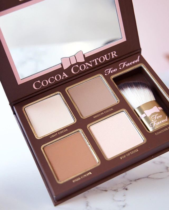 pinterest @lilyosm too faced cocoa contour palette shades face makeup