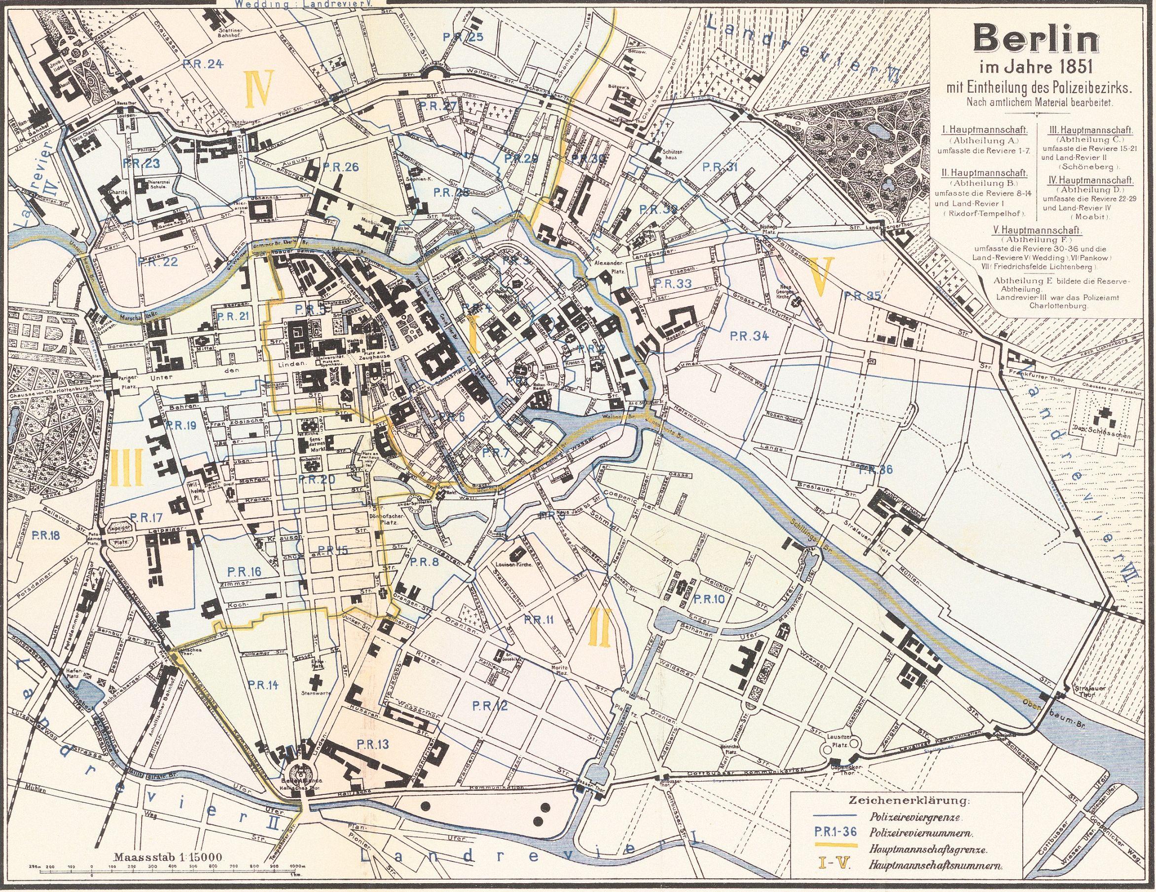unbek verfasser stadtplan von berlin im jahre 1851 berliner stadtpl ne berlin stadt und karten. Black Bedroom Furniture Sets. Home Design Ideas