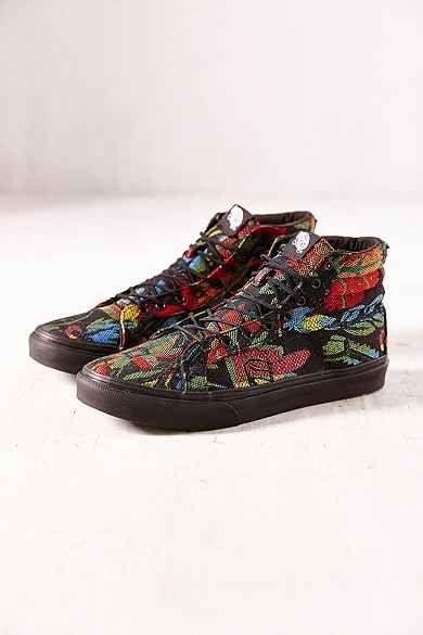661bc738ef Vans Floral Tapestry Sk8-Hi Slim Sneaker
