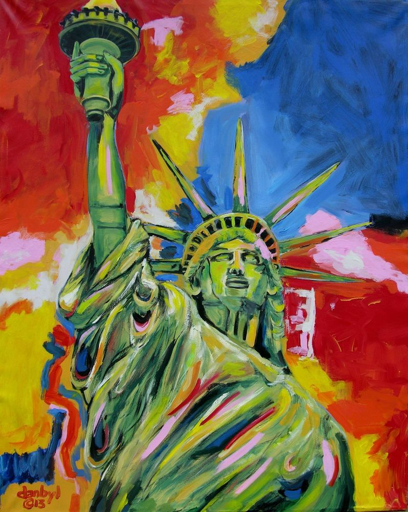 "Trump Keep America Great  Aceo Print of Original Art Painting DAN BYL 2.5x3.5/"""