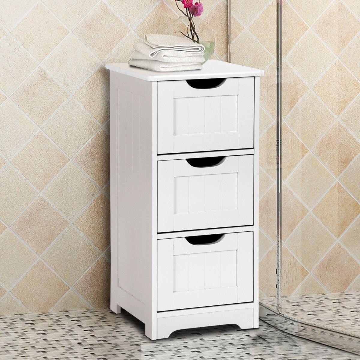 Bathroom Wooden Free Standing Storage Side Floor Cabinet Organizer Bathroom Floor Cabinets Bathroom Standing Cabinet Wooden Bathroom Storage