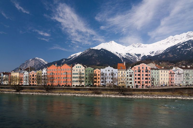 The River Inn flows through Austria, Switzerland,and Germany.  It is a tributary of the Danube.