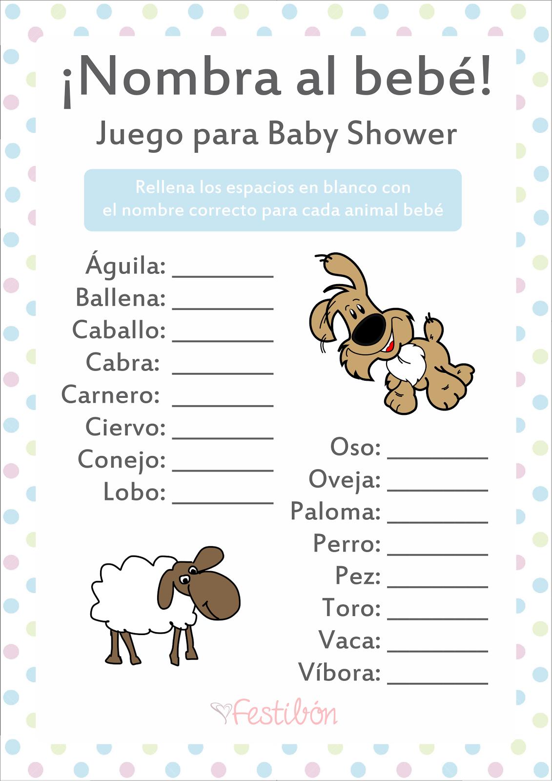 Descarga 16 Juegos Para Baby Shower Para Imprimir Gratis En Baby Shower Juegos Unisex Baby Shower Baby Shower