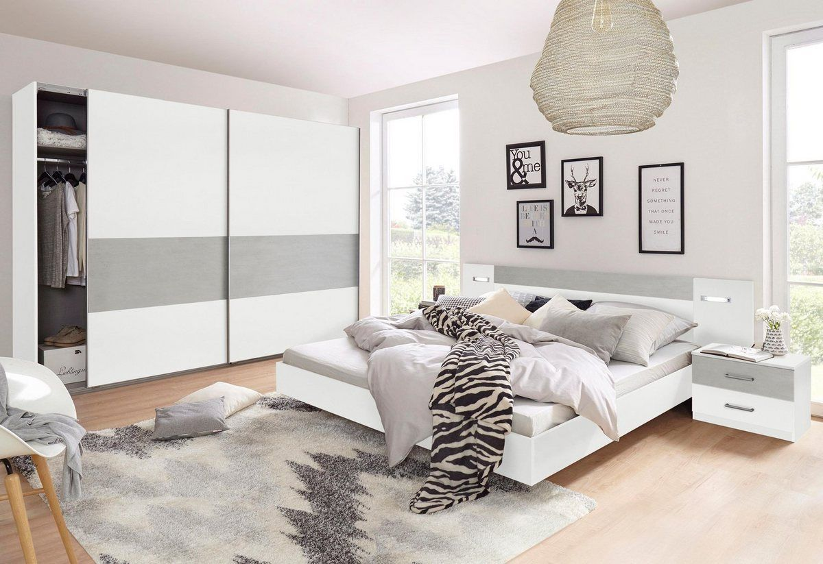 Schlafzimmer Set 4 Tlg. Set Kiefer Massiv Weiß Lava Kleinesschlafzimmer Schlafzimmer-set Angie (set 4-tlg) In 2020 | Bedroom Closet Design, Bedroom Set, Wimex