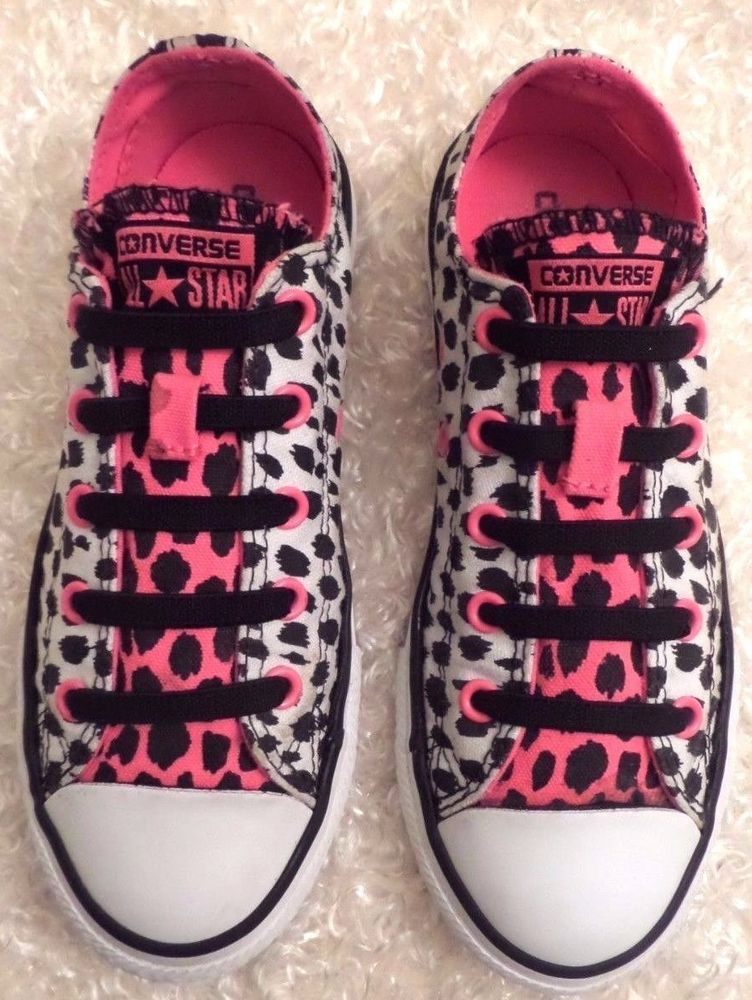 2e67e1949674 CONVERSE SLIP-ON 641200F Animal Print No Time To Lace Sneakers Junior SIZE 1   Converse  CasualShoes