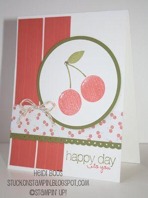 I love this cheery cherry card! Make for Rachel's birthday