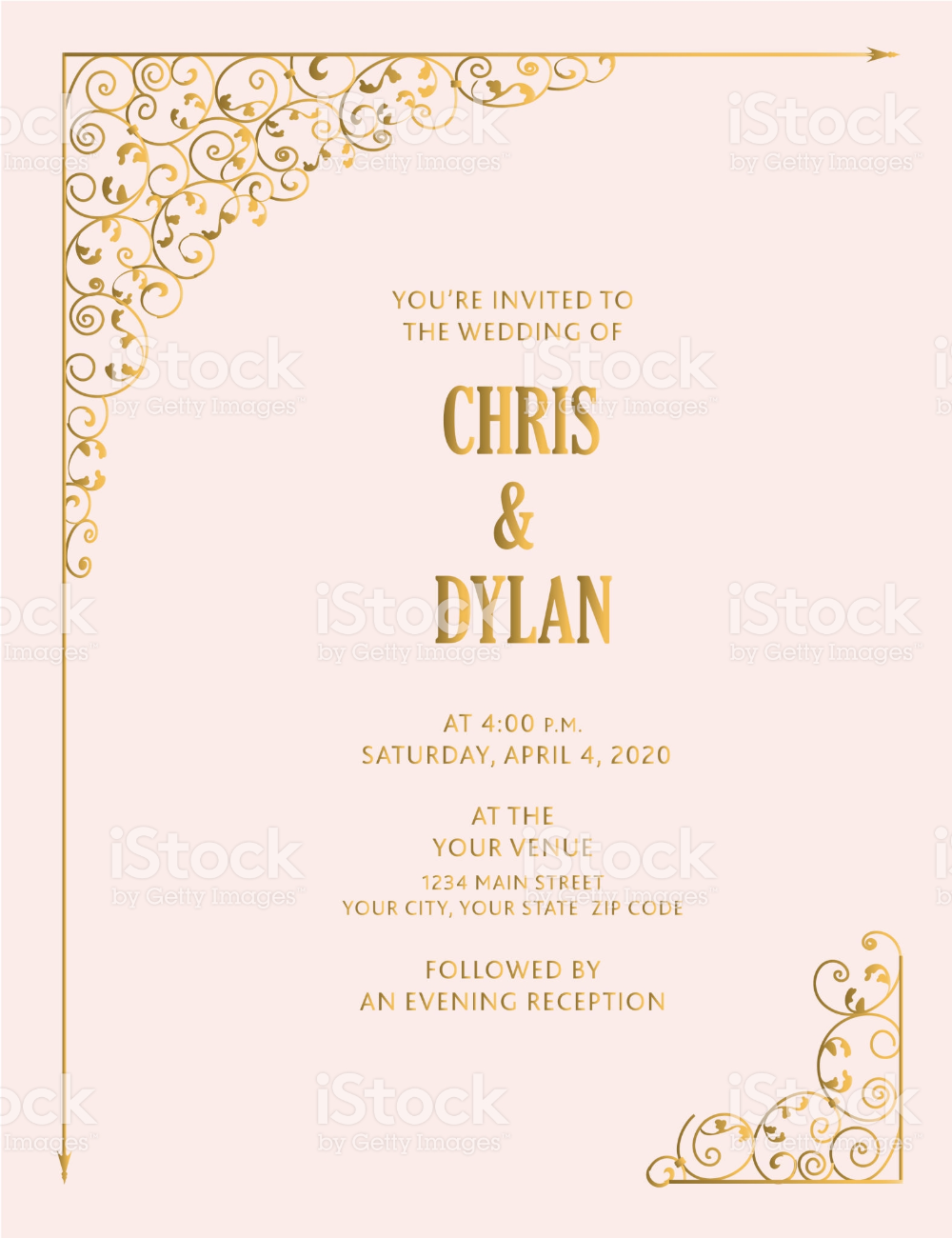 Vector illustration of a Wedding design Reply Card template with
