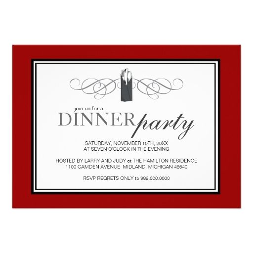 Classic Chic Dinner Party Invitations Dinner Party Invitations - dinner party invitation sample