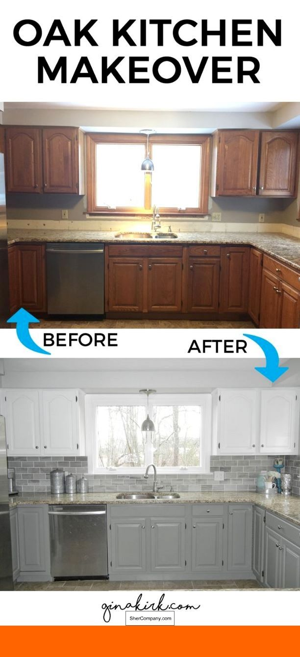 White kitchen cabinets with light granite and pics of white washed