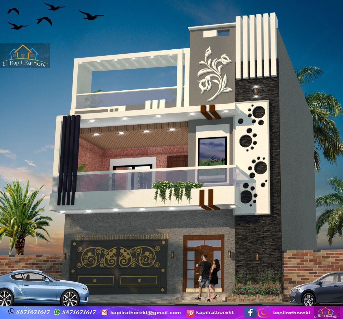 #exterior 22'#modern Elevation # Design By KT
