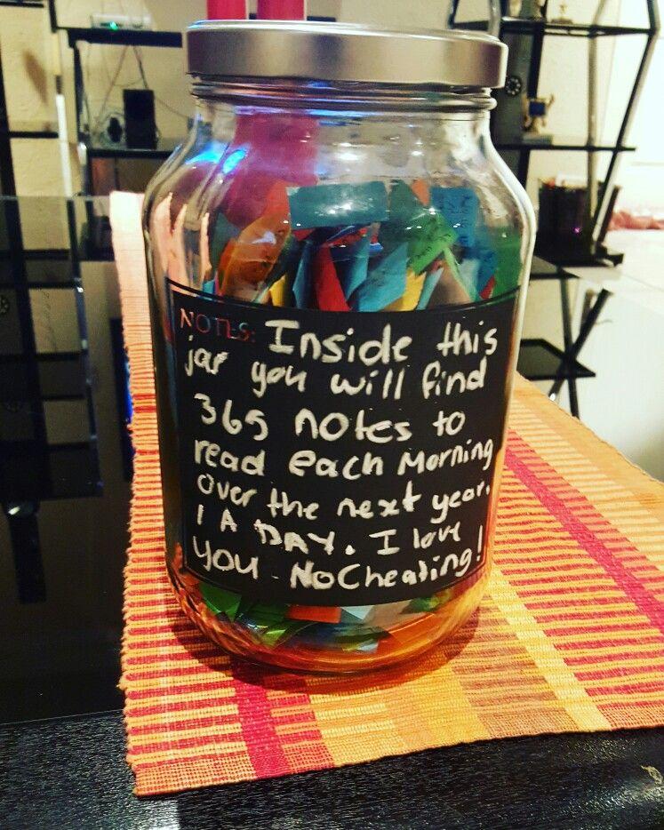 365 Note Jar Diy Christmas Gifts For Boyfriend Jar Gifts 365 Note Jar