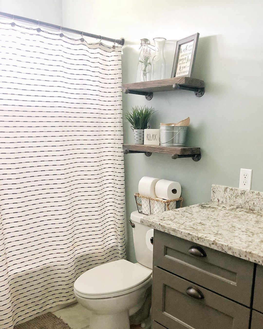 This super cute and simple shower curtain goes great in ...
