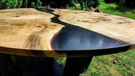 Live Edge Big Round River Coffee Table With Epoxy Resin Etsy Live Edge Live Edge Table Tops Live Edge Slab