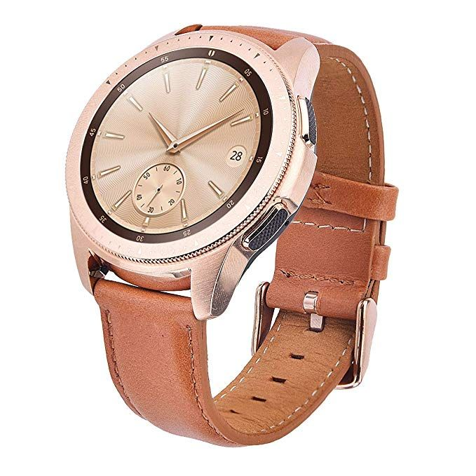 f48487d97 Band for Galaxy Watch 42mm Bands Women,TOROTOP 20MM Genuine Leather Strap  Replacement Band Strap for Samsung Galaxy Watch 42mm Bands Rose Gold(Camel)
