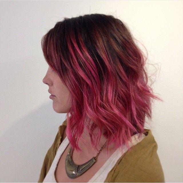 Bee2c1e7165c825045862f78a8bc2f85 Blonde Hair With Pink Ombre Short Ombre Pink Hair Jpg 640 640 Dark Pink Hair Hair Styles Pink Hair