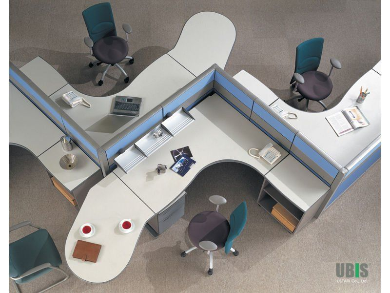 Furniture Awesome Shared Office Workstation For Open Plan Space Organizing 4 Person Design Supplies