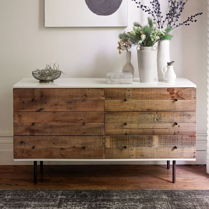 Barn Wood Faced Dresser Ikea Hack