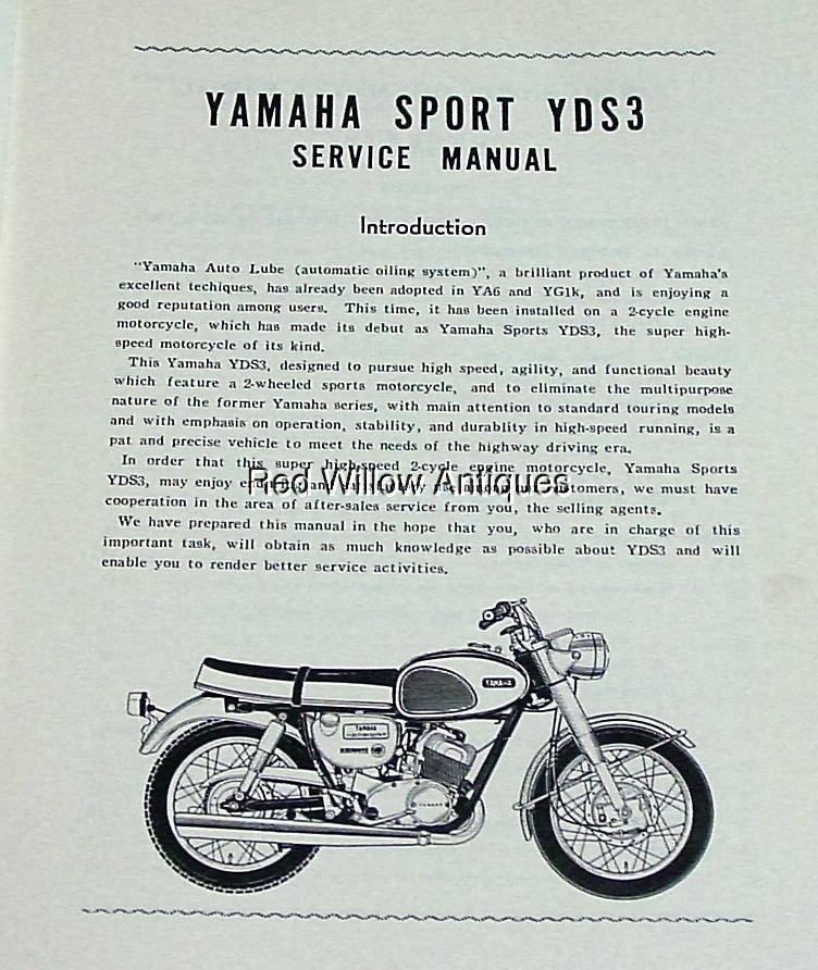 original 1964 yamaha yds3 oem dealer service manual includes yds 3 rh pinterest com 1964 Ford Shop Manual Diagrams Shop Manual Online