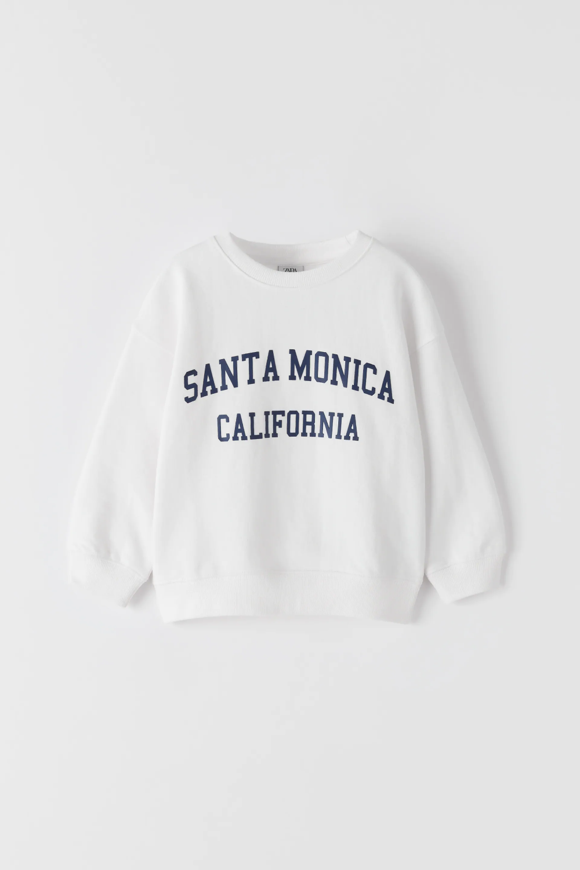 Sweatshirt With Text Zara United States Sweatshirts Hoodless Sweatshirts Cute Sweatshirts [ 1500 x 1000 Pixel ]