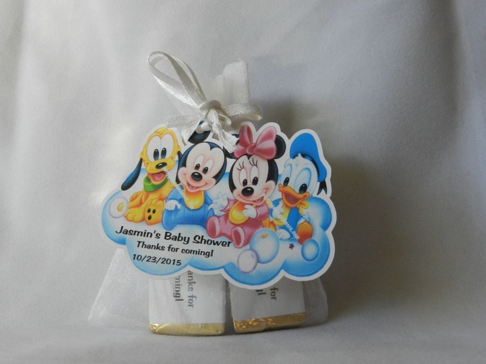 UNIQUE PERSONALIZED DISNEY BABIES BIRTHDAY BABY SHOWER PARTY FAVOR GIFT TAGS
