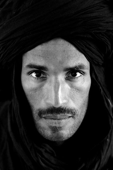 Black and White Portrait of a Berber Man by Matej Kastelic