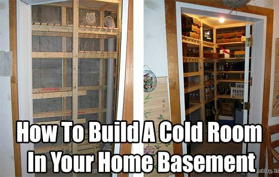 How To Build A Cold Room In Your Basement. A Cold Room For Food Storage In Your Basement