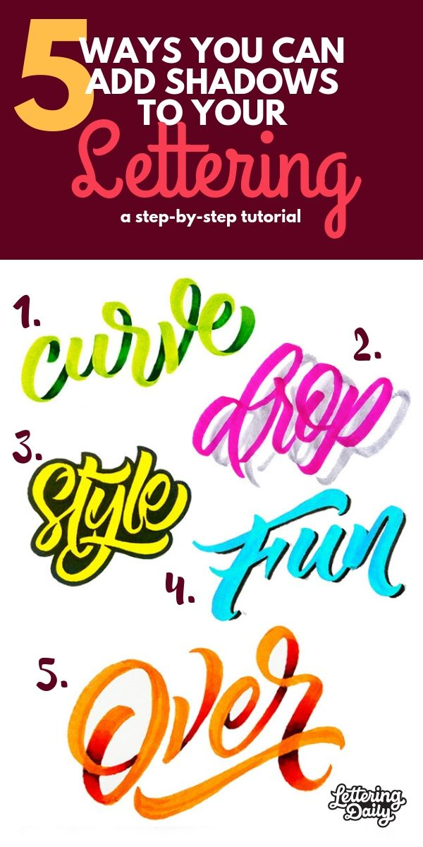 5 AWESOME ways you can add shadows to your lettering #calligraphy
