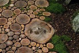 cedar log stepping stones | Stepping stones