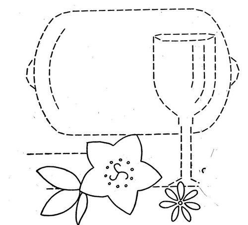 Hand Embroidery Pattern 3200 Dishes Flowers for Tea Towels 1940s 4 ...
