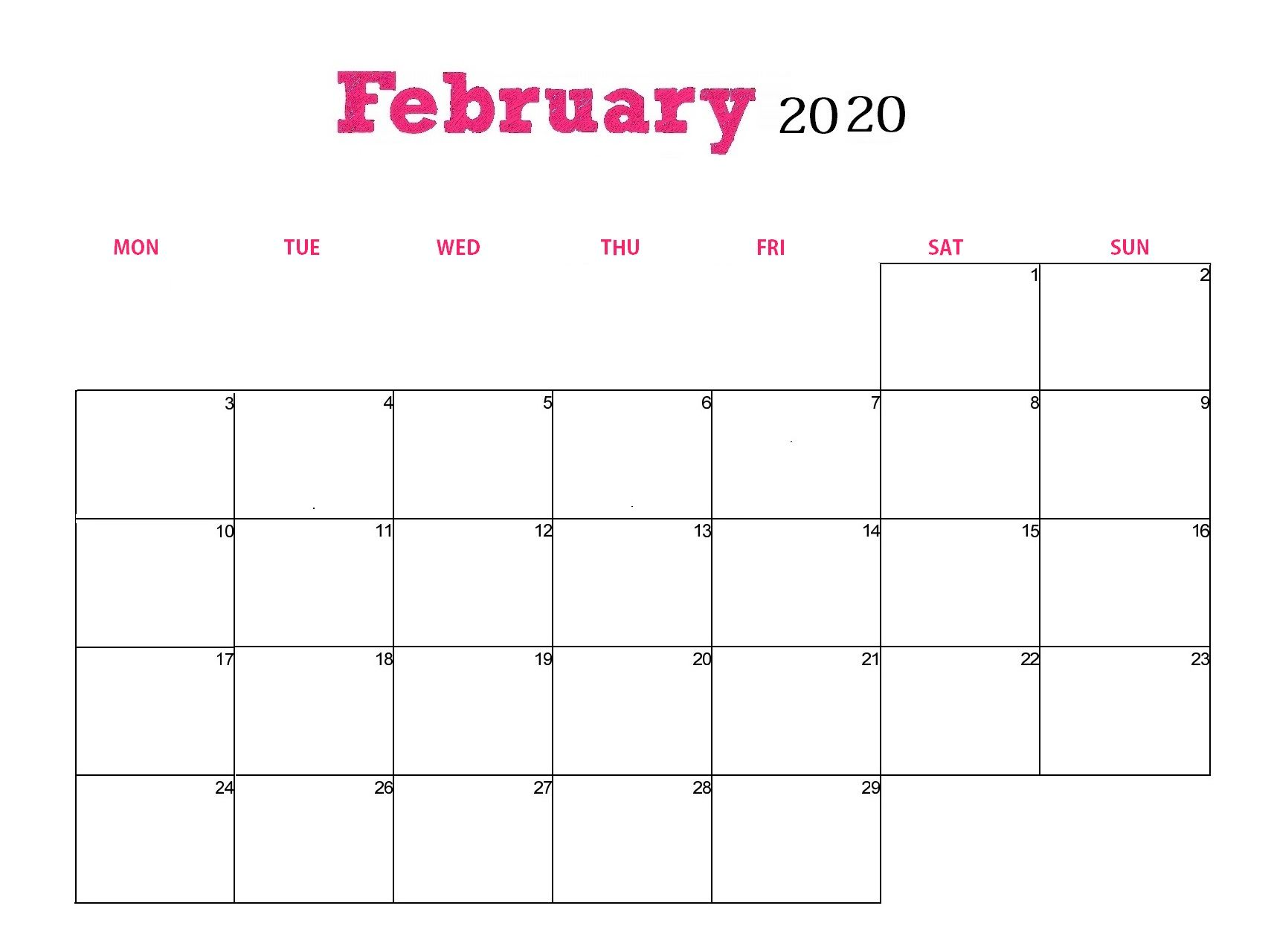 It is the shortest 28day month of the year, a calendar is