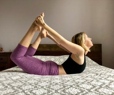 an easy morning yoga flow for metabolism and thyroid