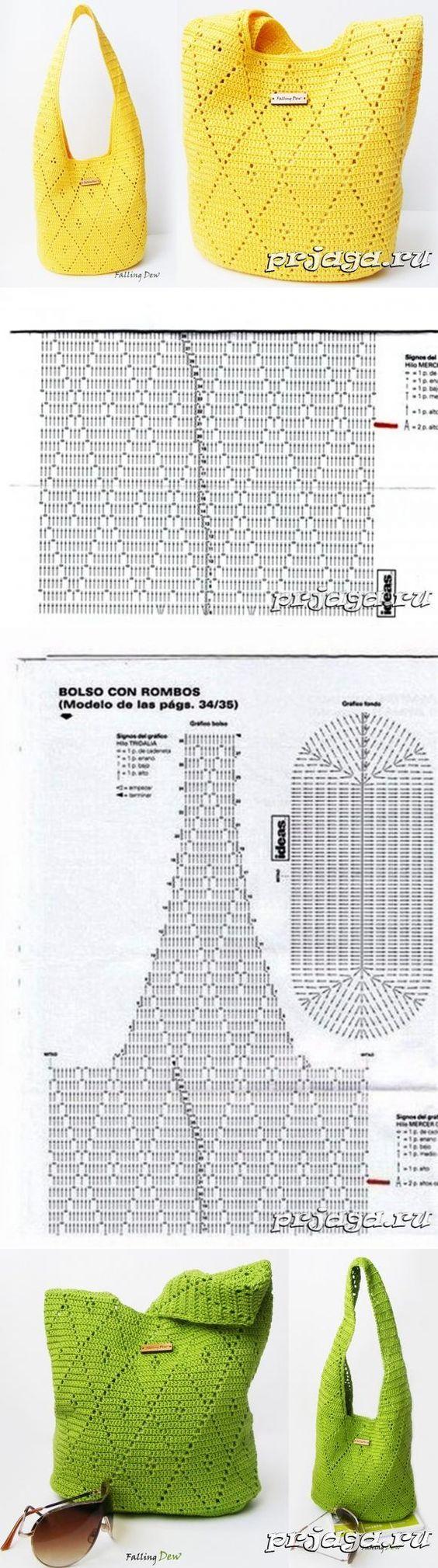 Вязание крючком для женщин | Bolsos, Ganchillo y Tejido