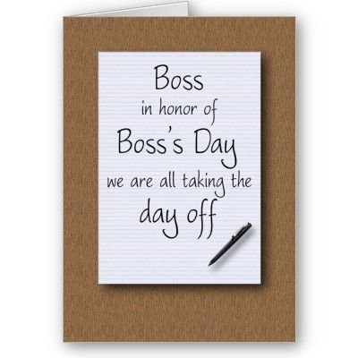 Boss S Day From Employees Card Zazzle Com Bosses Day Cards Birthday Wishes For Boss Bosses Day Gifts