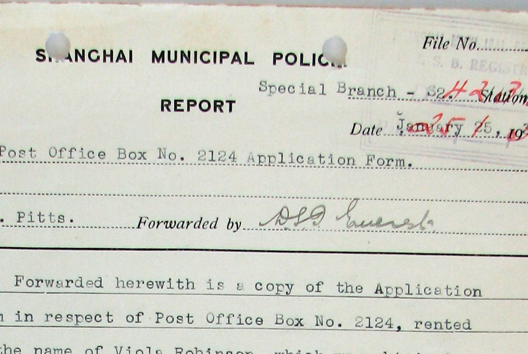 Shanghai Municipal Police report 1930s Old and interesting spy - Forensic Report