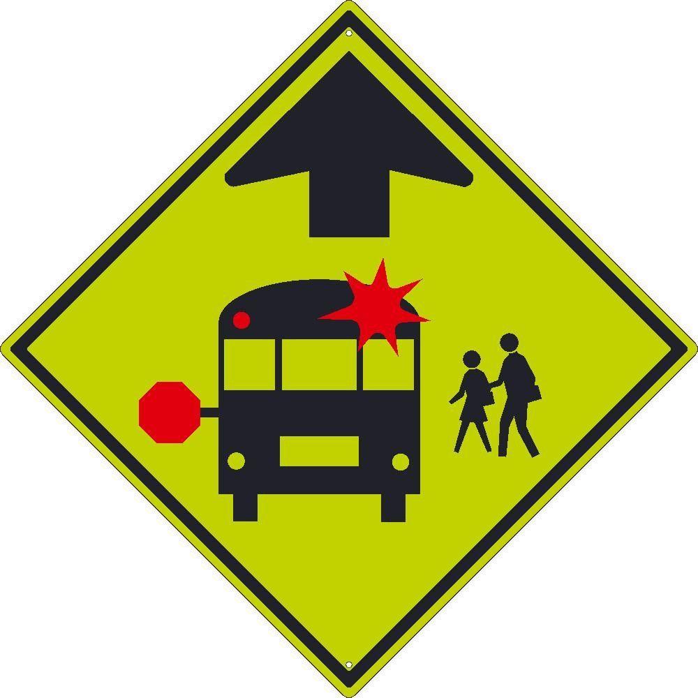 School Bus and Stop Graphics, National Marker TM301DG, 30