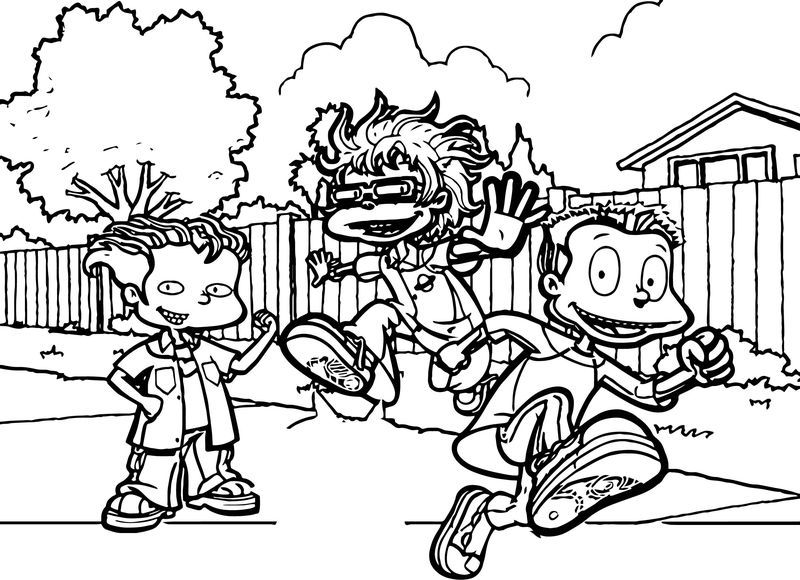 Rugrats All Grown Up All Grown Up Street Coloring Page See The