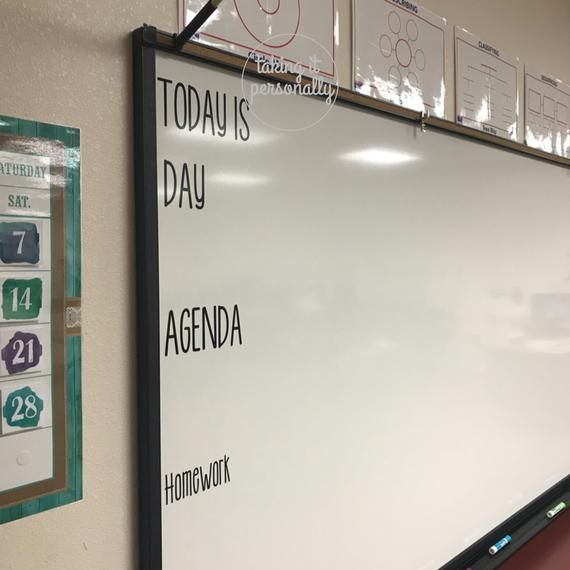 Classroom Whiteboard / Classroom Vinyl / Today Is / Today Is whiteboard / Classroom Chalkboard / Teacher Schedule / Classroom Schedule