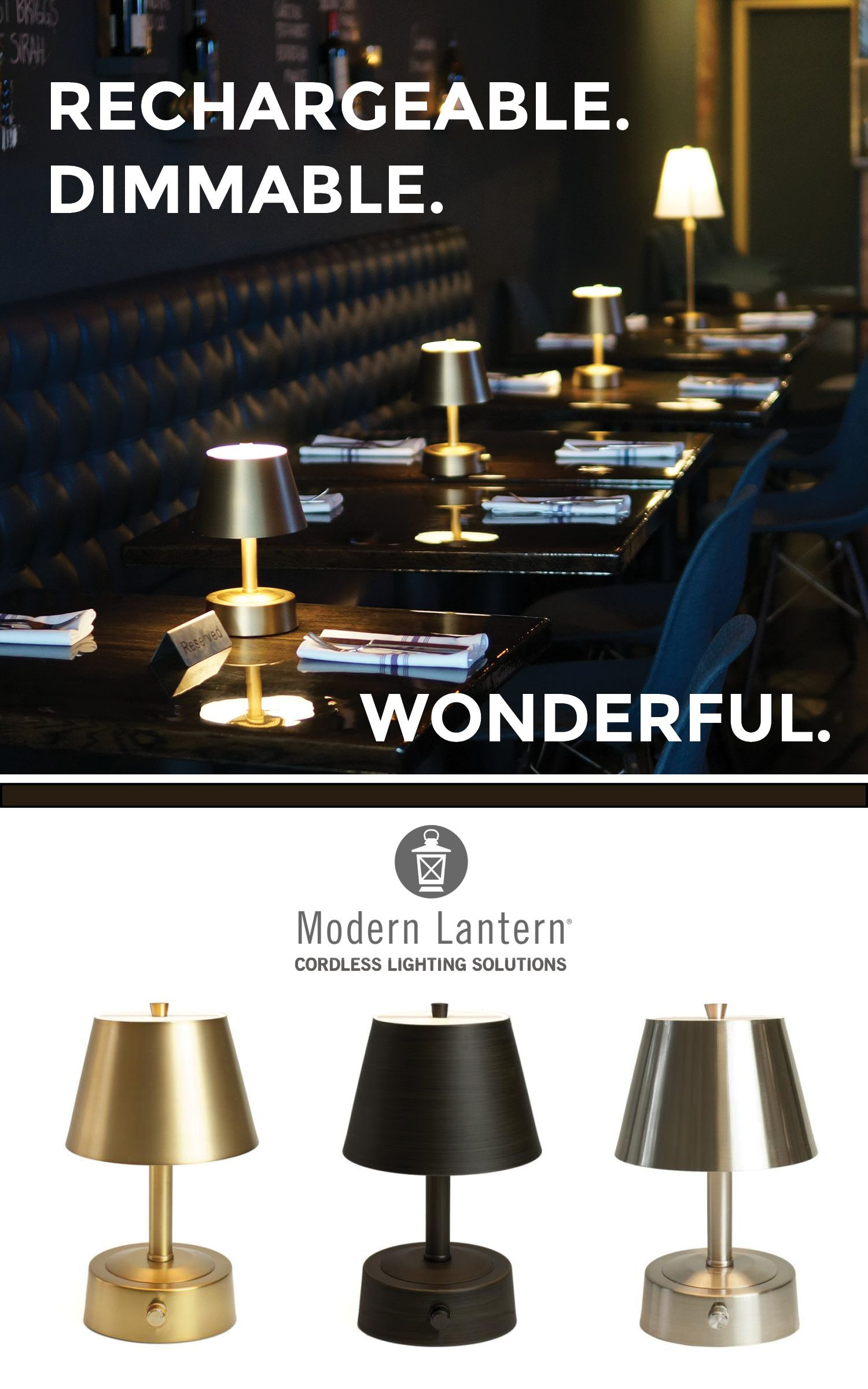 cordless rechargeable table lamps for