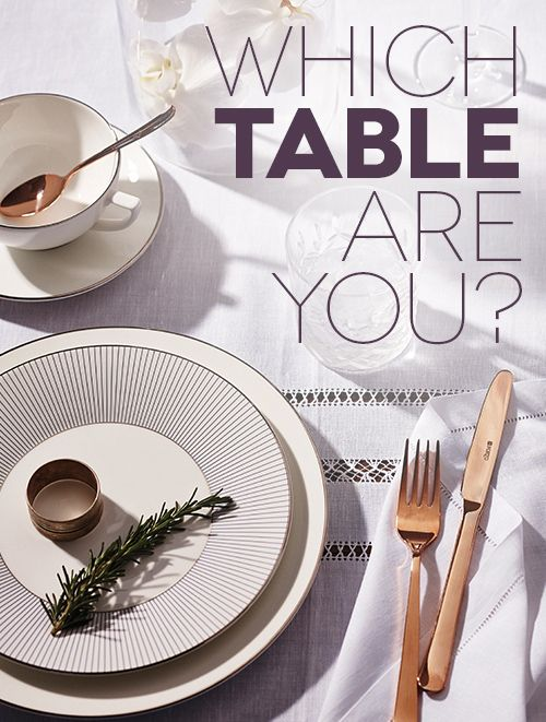 Fun & fab, or traditional with a twist? Editor Victoria Baker explains what your table setting says about you, and why you should care. Yes, your table setting matters. Don't let anyone tell you the food is what's really important. In this case...