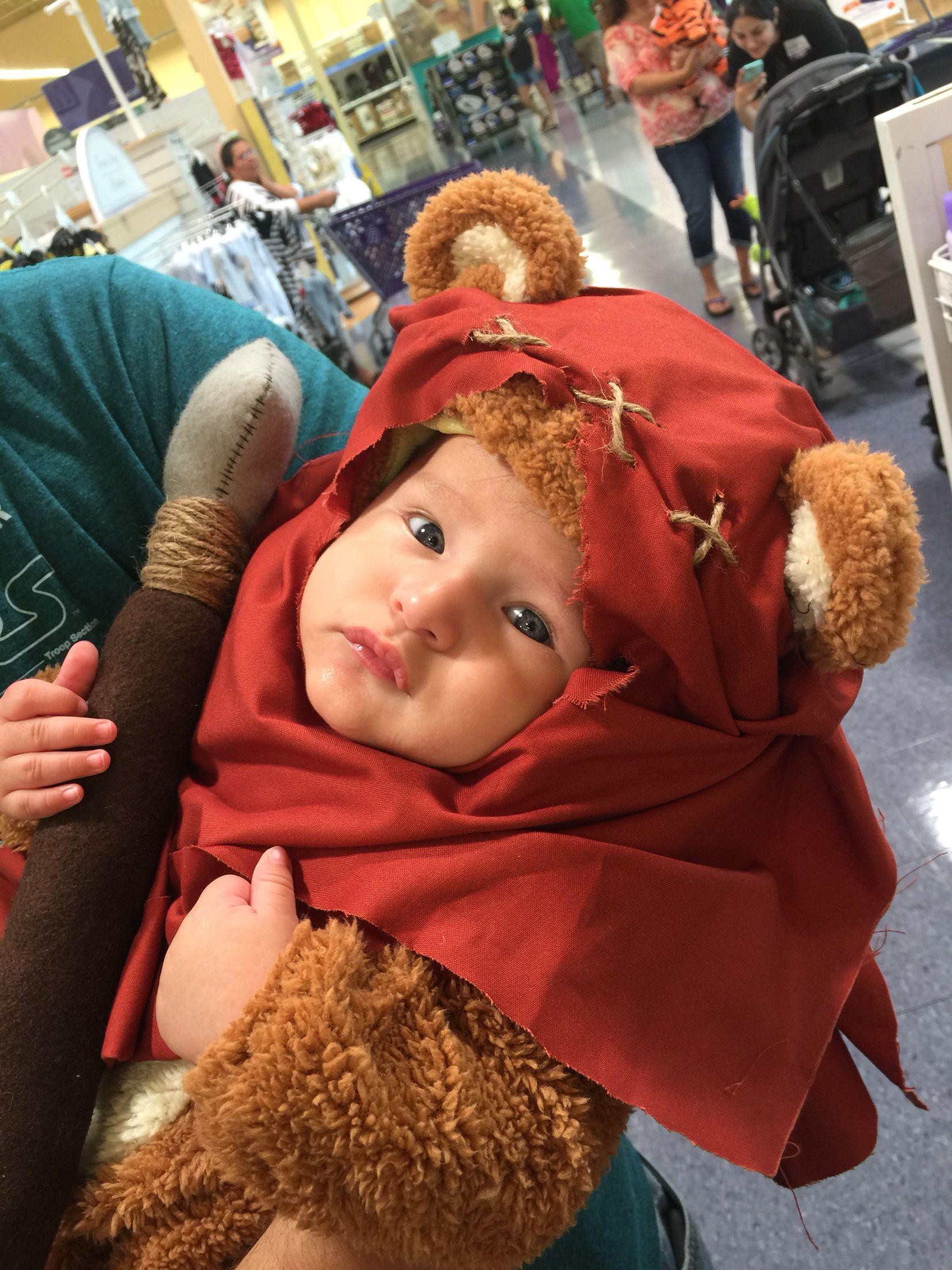 Baby ewok Halloween costume Star Wars diy Deco