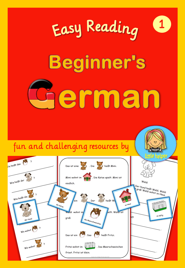 german for beginners easy reading texts and worksheets german german language learning. Black Bedroom Furniture Sets. Home Design Ideas