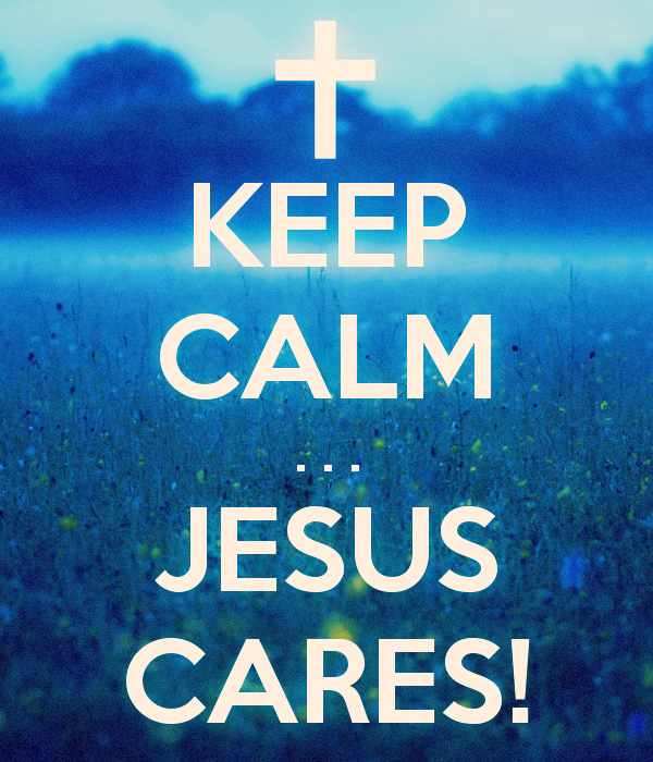 Storms come, life interrupts, we...get in the way; but keep calm, because Jesus really does care!