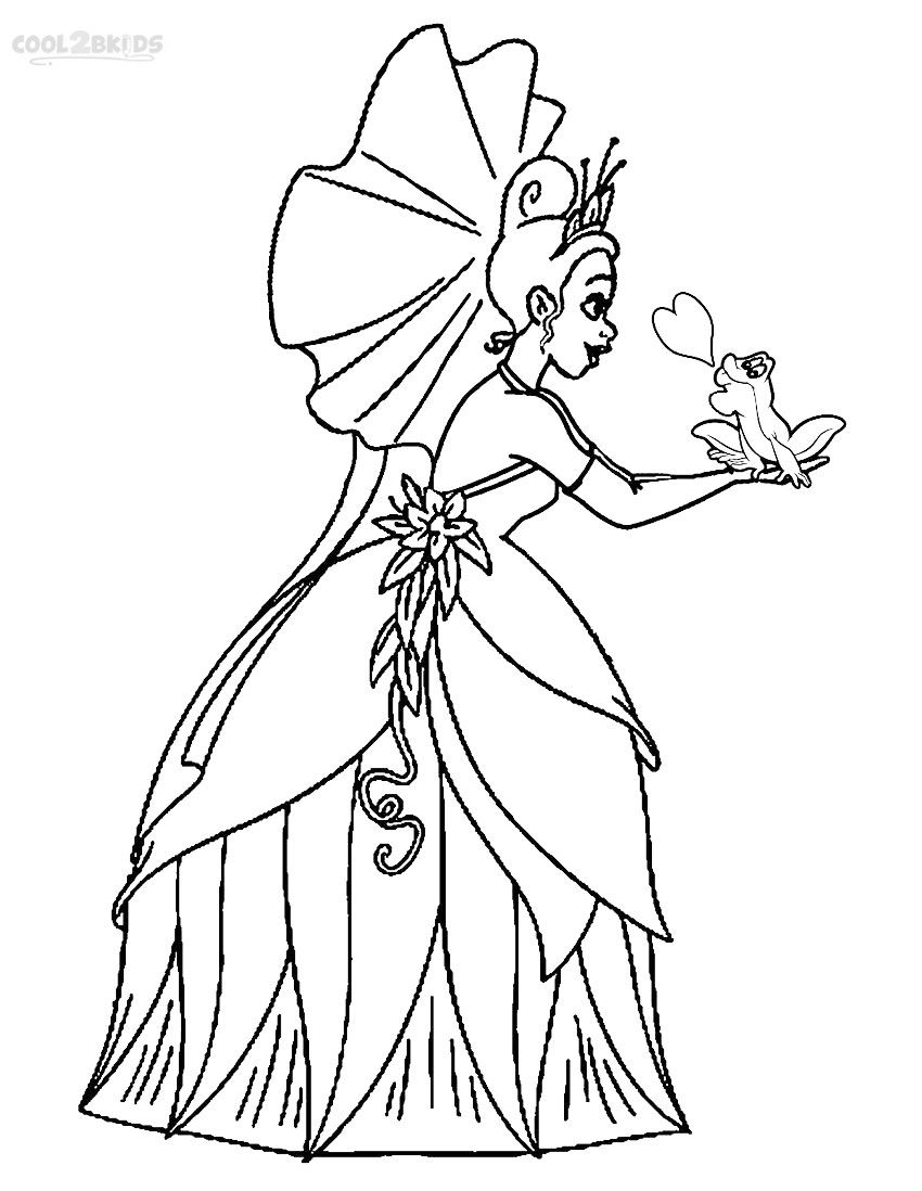 Free Printable Princess Tiana Coloring Pages For Kids | Disney ... | 1098x850