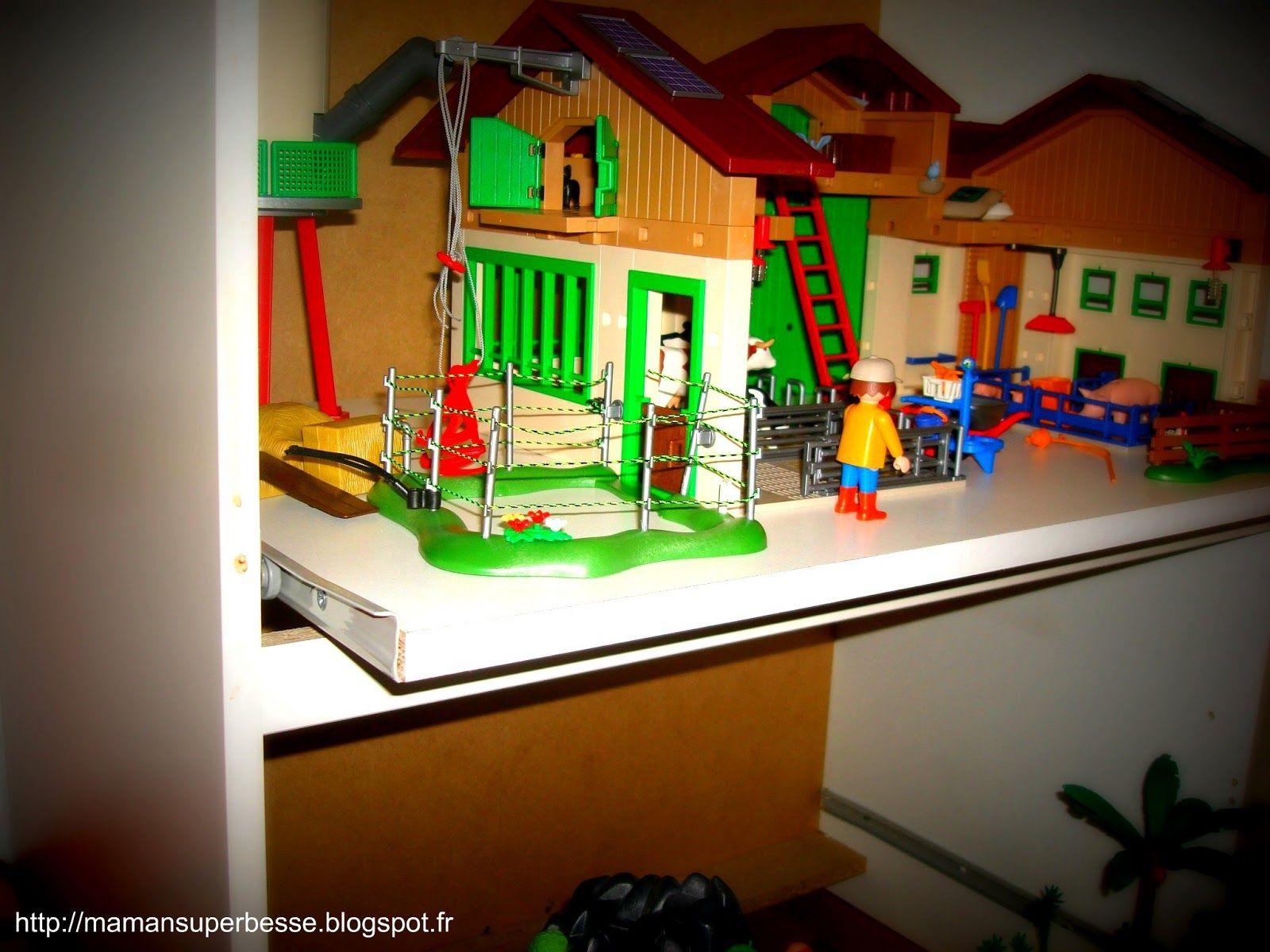 meuble playmobil oragnisation playmobil enfants rangement jeux